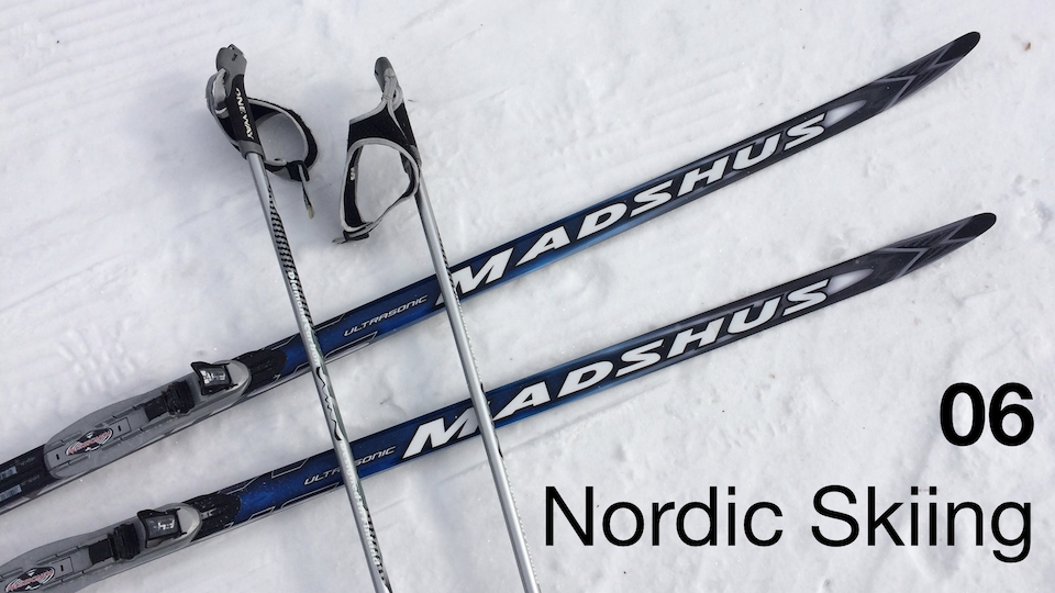 06 – Nordic Skiing:  Getting Started skating on snow